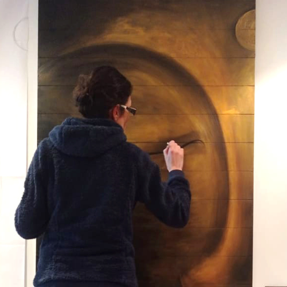 Alexandra-peinture bouddha