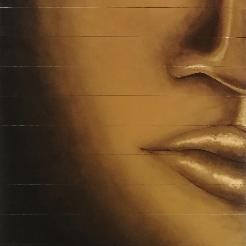 peinture l'or de la vie- tableau bouddha